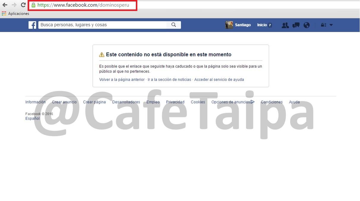 Dominos_Pizza_Peru_y_su_Facebook_inactivo-Cafe_taipa_Peru_consultores_en_reputacion_y_marketing