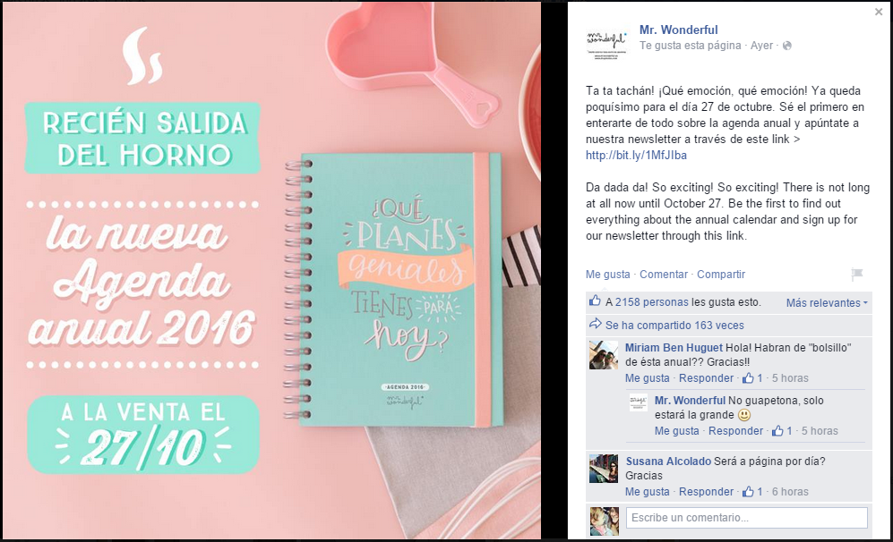 Agenda 2016 - Mr. Wonderful