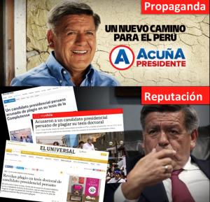PLAGIO: La reputación vs. el marketing de César Acuña Peralta